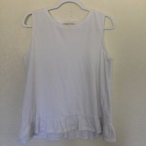 Michael Kors White Sleeveless Tank Top Blouse